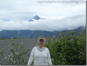 Nancy at Thompson Pass on the Richardson Highway, north of Valdez, AK.