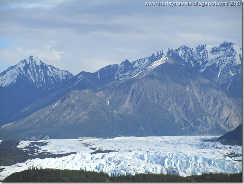 Matanuska Glacier, from the viewing area on the Glenn Highway