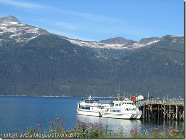 Fast Ferries at Haines boat dock wait for more passengers tomorrow morning.