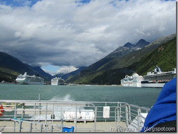 It was a beautiful ride back to Haines from Skagway on the Fast Ferry.