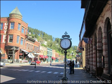 Here's a shot of a portion of Main Street in Deadwood.