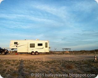 Parking at the National Park Service campground near Del Rio, Texas.