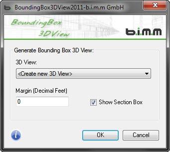 Bounding Box 3DView dialog