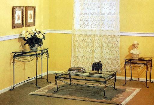 Mẫu bộ sản phẩm bàn & ghế sắt mỹ thuật - BG-077