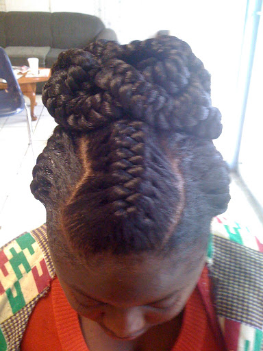 "... African Hair Braiding: Hair braiding done last week ""Goddess braids"