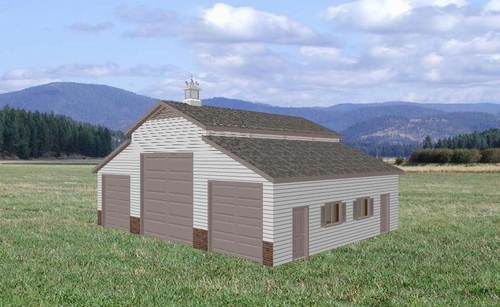 Rv garage plans sds plans for Rv barn plans