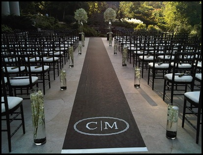 outdoor ceramony di vinci flowers
