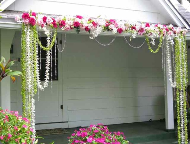 hanginf-orchids-roses-crystals-at-the-bayer-estate  designs by hemingway