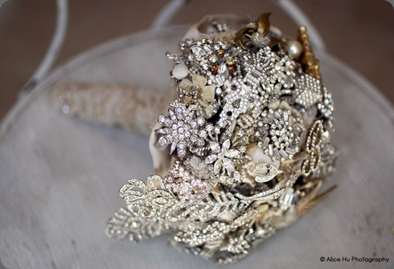 side silver brooch bouquet fantasy floral designs