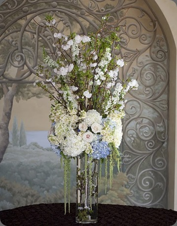 Alysha entrance arrangement heavenly blooms