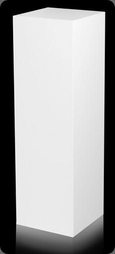 pedestal white LaminateWL