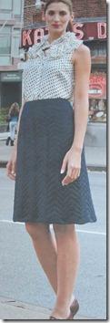 Mørkeblå-nederdel