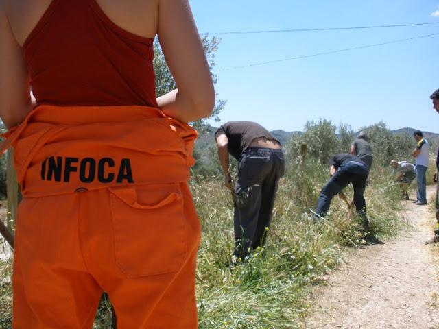 Voluntarios de Benalmadena en el curso de Extincion de Incendios Forestales