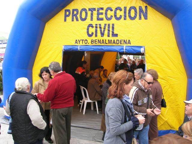 Toma de Glucemia en la Carpa de Protección Civil Benalmádena