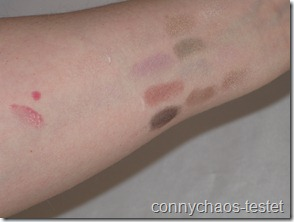 Swatch Eyeshadow, Lipgloss