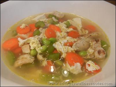 chicken tofu veggie soup