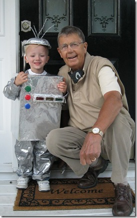 small fry and grandpa halloween