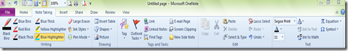 OneNote Ribbon