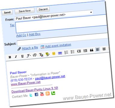 HTML Signature Gmail