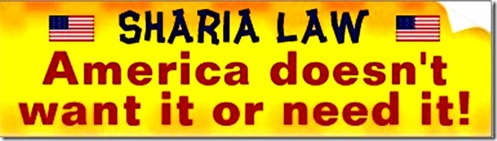 Sharia- USA no-want no-need