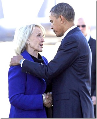 Jan Brewer & Barack Obama