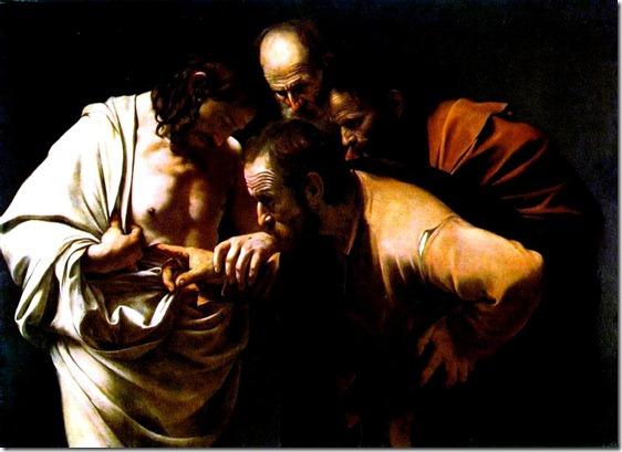 Doubting Thomas. Caravaggio 1602-1603