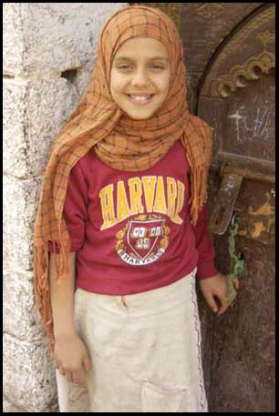 Girl with Harvard T-Shirt