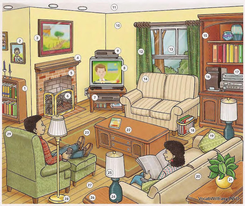 THE LIVING ROOM. LIVING ROOM   Dictionary for Kids