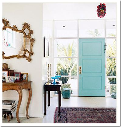 porta azul celeste