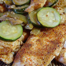 Spicy Tilapia With Mushrooms and Zucchini