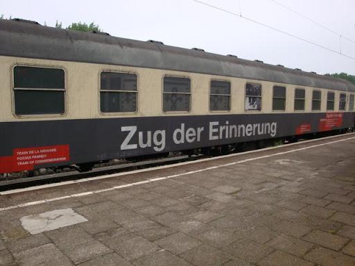 Ein Waggon des Zugs der Erinnerung