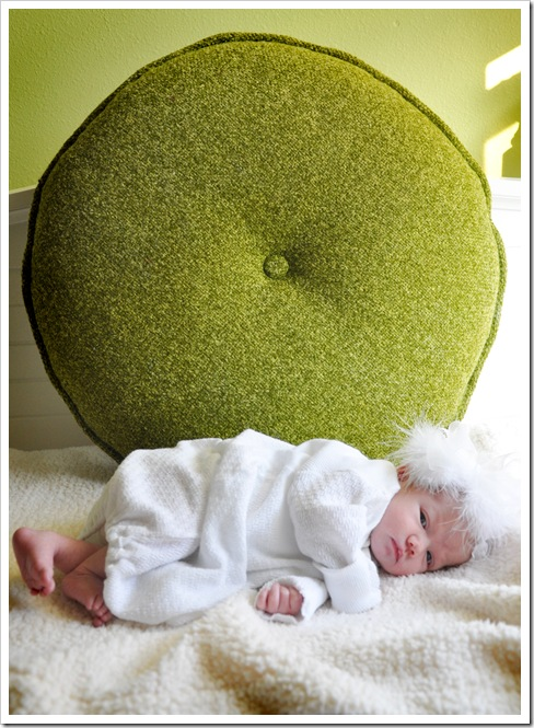 Tess with Green Pillow