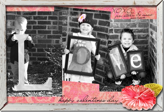 Valentine card copy