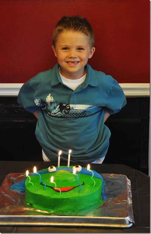 Jex with cake