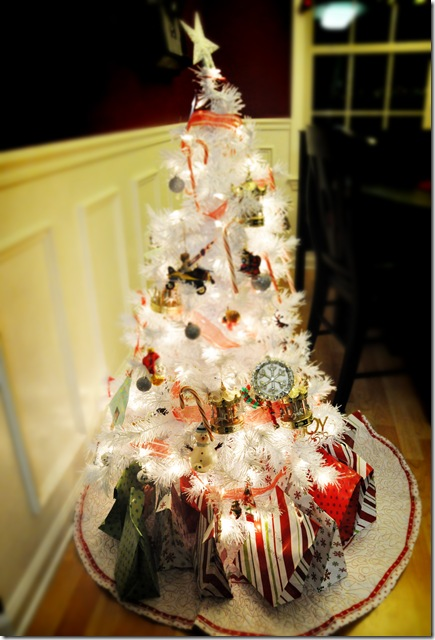 Presents under kids tree