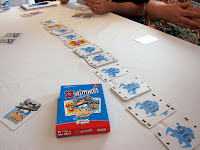 Stacks of cards during a game of 11 Nimmt
