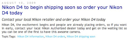 Nikon D4 for sale2 Rumor: Nikon D4 coming soon