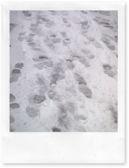footsteps snow