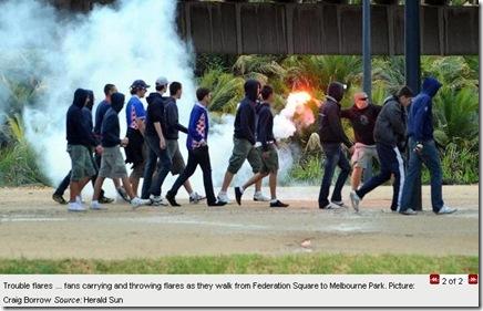 18 1 2010 Croatian mob mars first day of Australian Open tennis 2