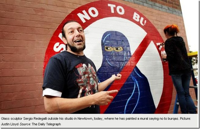 Copy of 23 9 2010 Ban the burqa mural 'not anti-Muslim' says artist