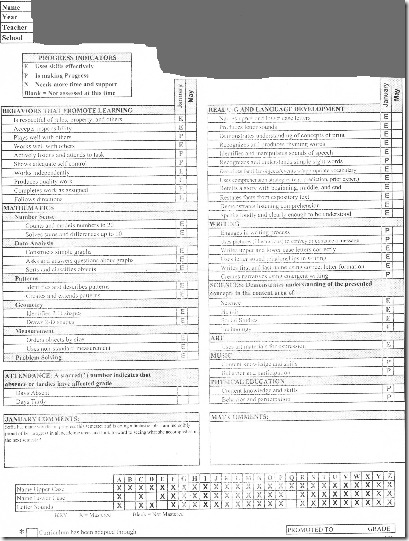 2009-2010 1st semester report card edited