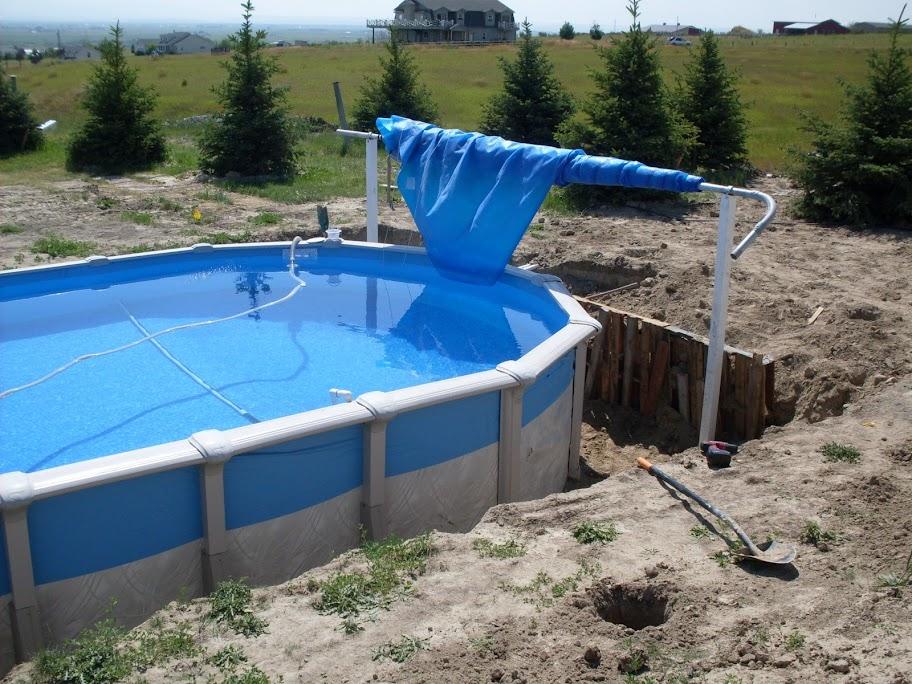 Solar blanket reel for 30 39 pool for Above ground pool reel ideas
