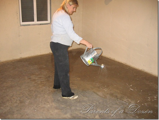 Basement Floor Paint Ideas parents of a dozen painting an unfinished basement