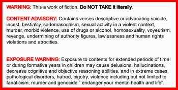 Bible Warning