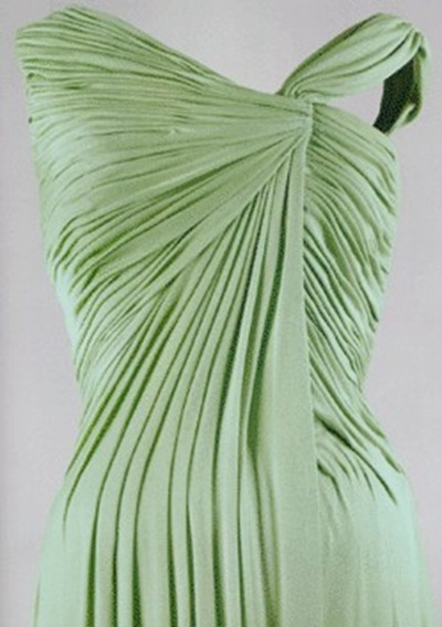 Celadon 59 (Celadon silk dress by Oleg Cassini 1962 for Jacqueline Kennedy)