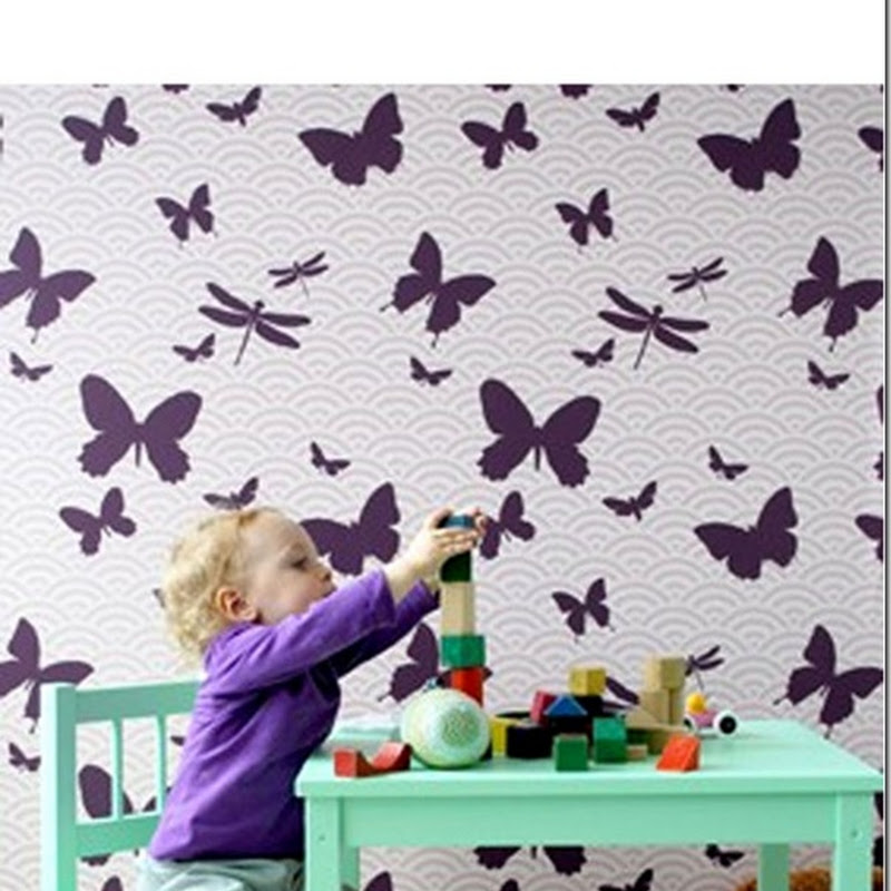 Ferm Wallpaper in the Nursery/Playroom…