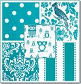 Fabric.TurquoiseandWhite
