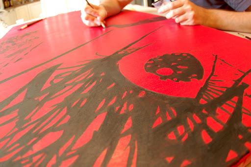 street art, original fake, kaws, horror art, horror, rue morgue, fangoria