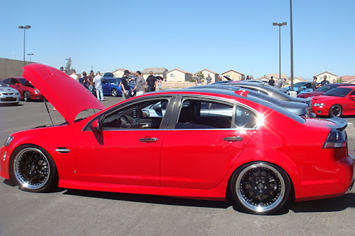 red car, car wrap, car decals