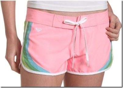bright pink board shorts